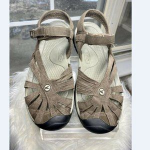 KEEN Women Rose Sport Brown Leather Sandal 9
